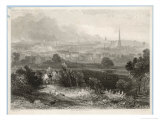 Early 19th Century Print Showing the Steady Rise of Industry in Birmingham Giclee Print by W. Harvey