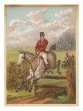 Huntsman Clearing a Fence Giclee Print by C.b. Herberte