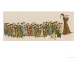 The Pied Piper Leads the Children Away from the Town Giclee Print by Kate Greenaway
