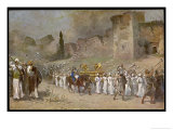 The Israelites Led by Joshua and Helped by God Destroy Jericho Giclee Print by Robert Leinweber