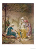The Magi Visit the Infant Jesus Giclee Print by William Hole