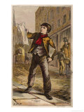 London Newsboy Giclee Print by H.w. Petherick