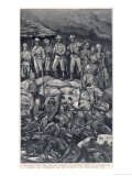 Rorke's Drift Chard and Bromhead with Their Men the Morning after the Zulu Attack Premium Giclee Print by J. Nash
