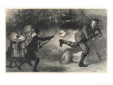 Some Children Scaring an Adult Giclee Print by William Small