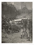 Boston Massacre British Troops Open Fire Giclee Print by Howard Pyle