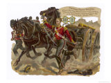 Captain Bell of the Royal Welsh Fusiliers Captures a Russian Gun at the Battle of Alma Giclee Print by Harry Payne