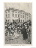 The Triumphal Return to Madrid by Ferdinand Gicl&#233;e-Druck von Lucius Rossi