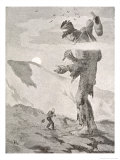 Norwegian Giant Little Fred and the Giant Beggar Giclee Print by Theodor Kittelsen