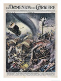 Six Die When the Pavia Region Italy is Hit by a Tornado Giclee Print by Walter Molini
