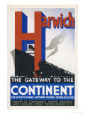 Harwich the Gateway to the Continent Giclee Print by Frank Newbould