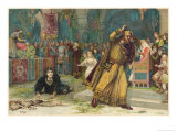 Hamlet, The Play Scene Giclee Print by H.m. Paget