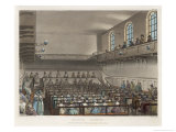 Quakers Meeting in a London Meeting-House Giclee Print by Thomas Rowlandson