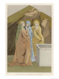 Mary Magdalen Mary the Mother of James and Salome Come with Spices to Anoint Jesus's Body Giclee Print by Lorenzo Monaco