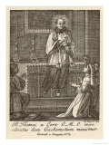 The Blessed Thomas a Cora is Levitated While Administering the Mass Giclee Print by De Rochas
