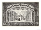 Stage Performance in a Theatre Giclee Print by Jan Punt