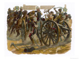 Sgt.Patrick Mullane Rescues a Gun-Carriage Driver at the Battle of Maiwand Giclee Print by Harry Payne