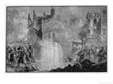 "The So-Called ""Angels of Mons"" Halt the German Advance at Mons Belgium Giclee Print by Alfred Pearse"