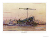 An Assyrian Galley Giclee Print by Albert Sebille