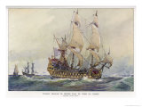 First-Class French Warship Commissioned for Louis XIV by His Minister Colbert Giclee Print by Albert Sebille