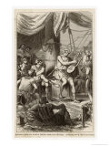 Homer Blind Greek Poet Singing to Sailors Giclee Print by P. Phillipoteaux