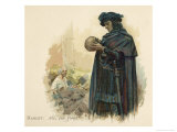 Hamlet with Yorick's Skull Premium Giclee Print by Walter Paget