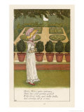 Mary Mary Quite Contrary How Does Your Garden Grow Premium Giclee Print by Kate Greenaway