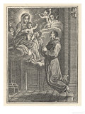 When Brother Humile di Bisignano (Died 1631) Sees a Vision of the Virgin and Child He is Levitated Giclée-Druck von De Rochas