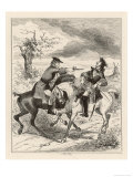Dick Turpin Holds up Fellow Highwayman Tom King Giclee Print by  Phiz