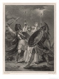 Ajax Fights Hector Premium Giclee Print by Henry Singleton
