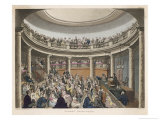 Humphrey Davy Lectures at the Surrey Institution London Giclee Print by Rowlandson & Pugin