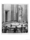 Leon Foucault Uses His Pendulum to Demonstrate the Rotation of the Earth at the Pantheon Paris 1851 Giclee Print by F. Pargent