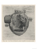 "Bushnell's ""Turtle"" the First Submersible Craft to be Used in Action Attacking a British Ship Giclee Print by Pesce"