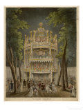 Music and Dancing at Vauxhall Giclee Print by Rowlandson & Pugin