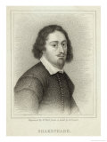 William Shakespeare Playwright and Poet Giclee Print by William Holl the Younger