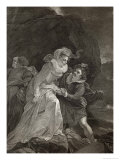 Mary Queen of Scots Escapes from Loch Leven Castle Giclee Print by J. Rogers