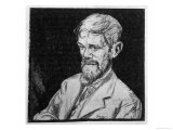 D H Lawrence English Novelist Sketch Giclee Print by Kapp 
