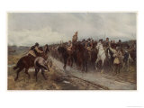 Cromwell Prepares to Fight the Scots at Dunbar Giclee Print by Andrew C. Gow