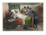 On His Deathbed He Recovers His Wits Giclee Print by Edmond Morin