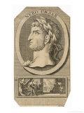 Lucius Domitius Ahenobarbus Later Nero Claudius Caesar Drusus Germanicus Roman Emperor Giclee Print by Michael van der Gucht