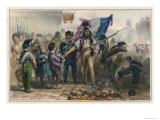 Manning a Paris Barricade During the Revolution of 1830, Children Bring Food for the Insurgents Giclee Print by Raffet