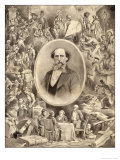 Charles Dickens Writer Giclee Print by W. Reynolds