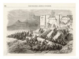 French Expedition the French Attack Puebla Giclee Print by V. Pierson