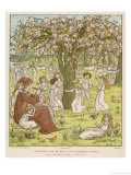 The Pied Piper Plays His Pipe Giclee Print by Kate Greenaway