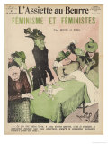 An Unsympathetic View of Feminists Giclee Print by Robert Sigl