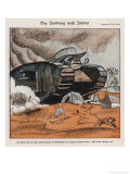 John Bull's Tanks Impose British Imperialism on India Giclee Print by Wilhelm Schulz