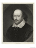 William Shakespeare English Playwright and Poet Giclee Print by Edward Scriven