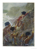 Quebec: The British Troops Scale the Heights of Abraham Giclee Print by Henry Sandham