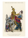 The French King Charles VII in Full Armour Mounted on a Horse Giclee Print by Philippoteaux
