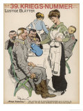 Wounded German Soldiers are Comforted by the Attentions of a Pretty Volunteer Waitress Giclee Print by Ernst Heilemann