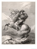 Napoleon I Crossing the Saint-Bernard Pass Through the Alps 1800 Giclee Print by Robert Lefevre